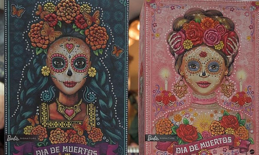 Two Catrina Barbie dolls on display at the Museum of the Old Mexican Toy in Mexico City last Tuesday. For the second year in a row, American toy company Mattel launched a Day of the Dead edition of the iconic doll.