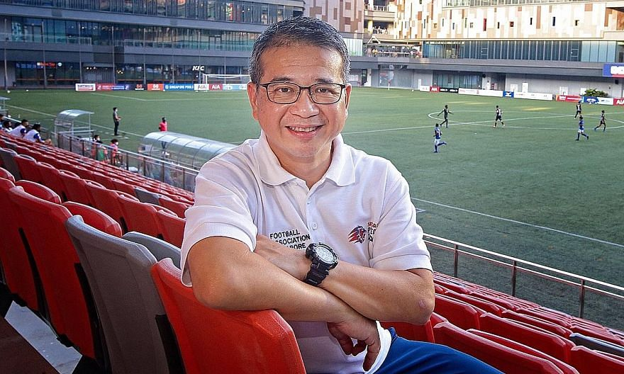 Minister for Culture, Community and Youth Edwin Tong says weekend warriors will have to make do with five-player kickabouts for now.
