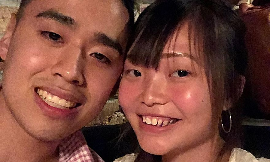 Ms Priscillia Lau with her American partner Cory Loo in New York last year. Given the Covid-19 situation in the US, she had not been optimistic about his chances of being allowed to enter Singapore, but it took only a week for his short-term visit pa