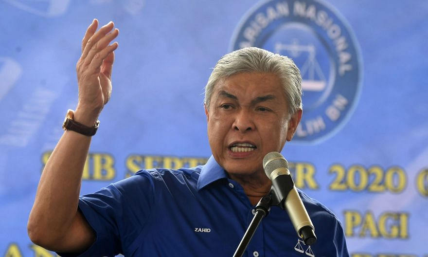 In a meeting on Thursday, Umno president Ahmad Zahid Hamidi repeated that the party will back Budget 2021, to be tabled next Friday, and called for snap polls to be held after the Covid-19 pandemic is under control. PHOTO: BERNAMA