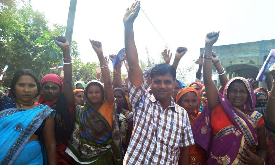 Women form an integral part of Mr Sanjay Sahni's electoral campaign machinery. The former migrant worker, who is contesting state polls in Bihar this month, is mounting a political rebellion on behalf of migrant workers like himself, and other rural