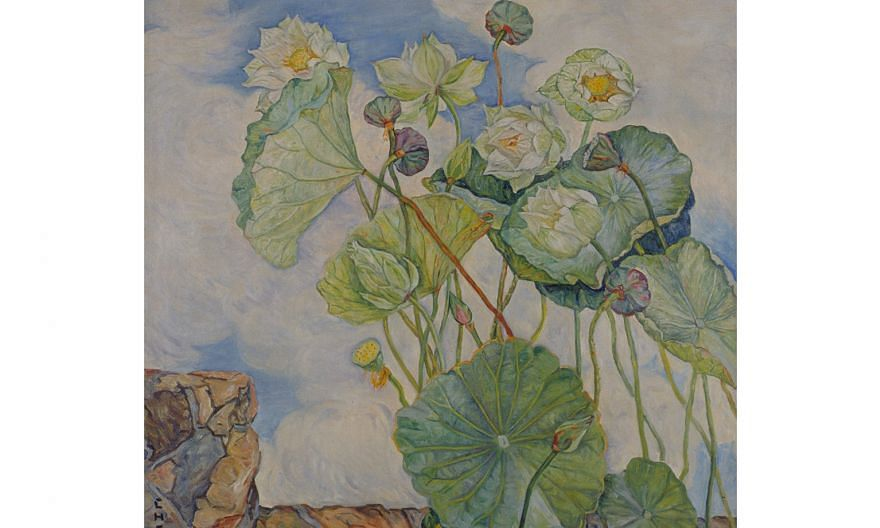 Lotus In A Breeze (left) by Georgette Chen (above) is in the collection of the National Gallery Singapore. The upcoming exhibition, Georgette Chen: At Home In The World, will highlight little-known aspects of the celebrated artist, such as her ties w