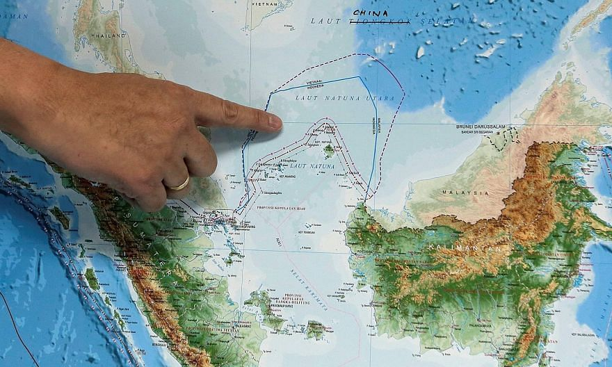 The location of the North Natuna Sea in the South China Sea, which has been at the centre of Indonesia's diplomatic tensions with China over maritime rights. The area is rich in marine life and fish species, as well as crude oil and natural gas reser