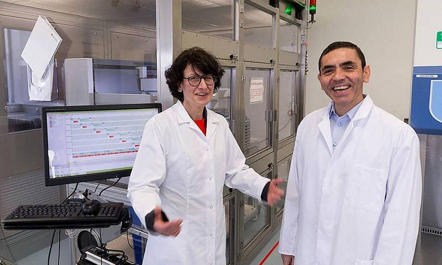 Dr Ozlem Tureci (left) and Dr Ugur Sahin met in the 1990s in Germany and fell in love while working to find a cure for cancer.