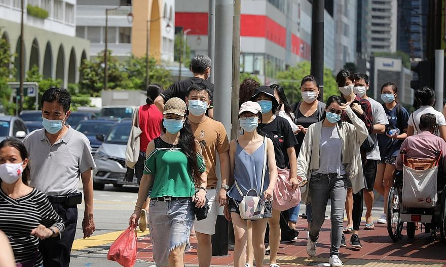 The number of new cases in the community has remained low, with one case in the past week, which is unlinked, said the Ministry of Health. ST PHOTO: ONG WEE JIN