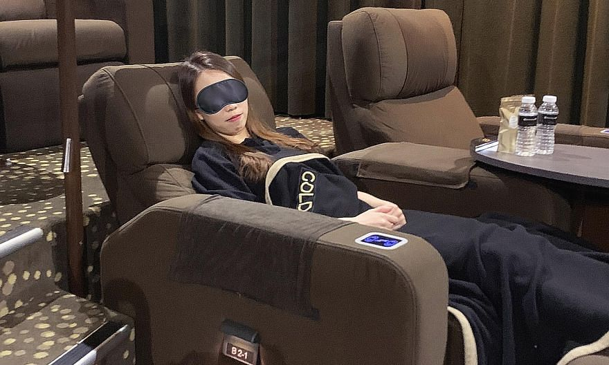 Golden Village Suntec City's co-working package lets patrons work in its Gold Class lounge and nap in plush reclining seats in its Gold Class cinema.