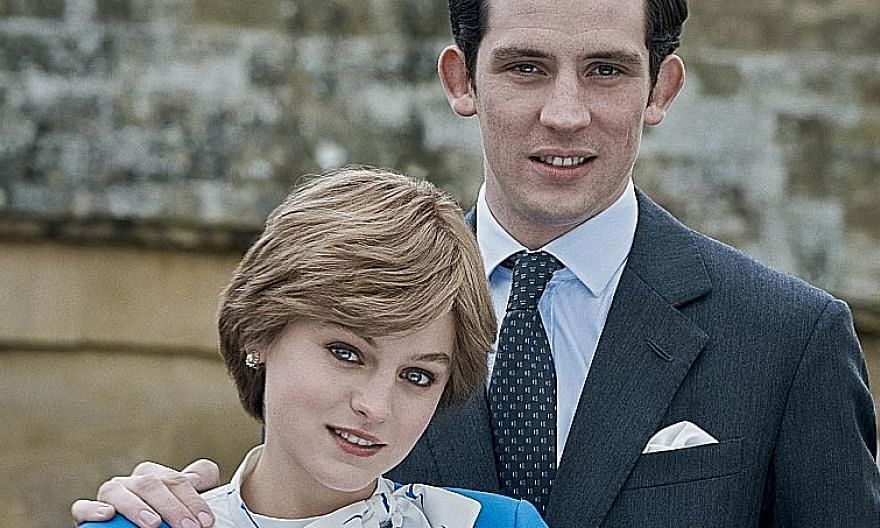 In the fourth season of The Crown, the award-winning series on the British royals, Emma Corrin and Josh O'Connor (both left) play Princess Diana and Prince Charles.