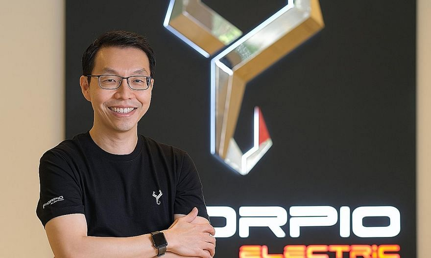 Scorpio Electric chief technology officer Tham Kwang Sheun's work involves using big data to optimise the performance of the firm's EV. PHOTO: SCORPIO ELECTRIC
