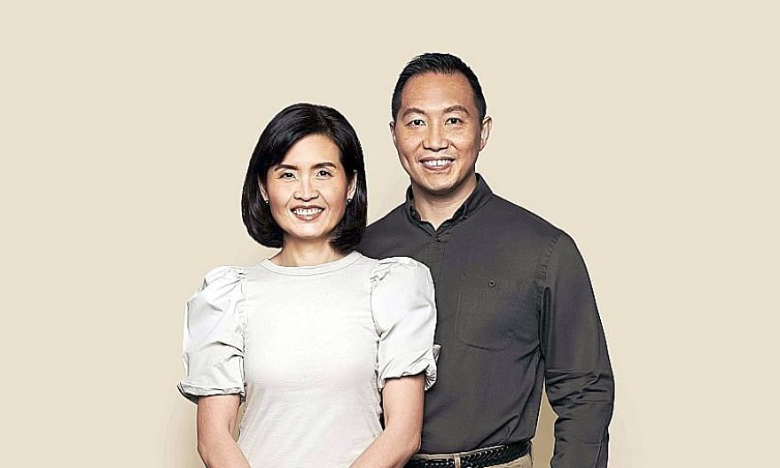 Dr Audrey Looi and her husband, Dr Ang Beng Ti. Their son James, an SMU undergrad, suffers from a disease that causes progressive vision loss. PHOTO: COMMUNITY FOUNDATION OF SINGAPORE