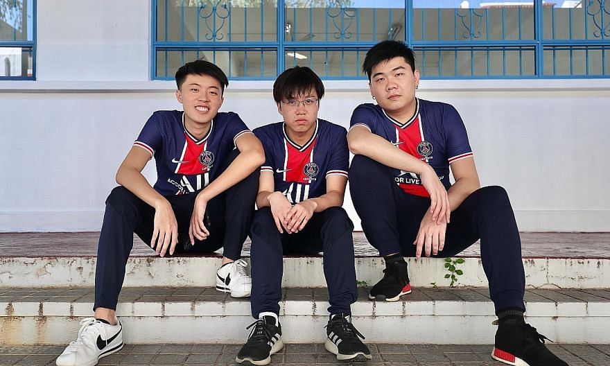 """From left: Singaporeans Charleston """"Scythe"""" Yeo, Jerome """"Response"""" Kwek and Nicholas """"CoupDeAce"""" Wilson Ng were part of the winning side at the Brawl Stars World Finals."""