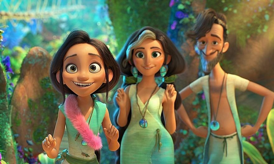Actress Kelly Marie Tran (above) is the voice behind Dawn Betterman (far left) in the animated feature, The Croods: A New Age.