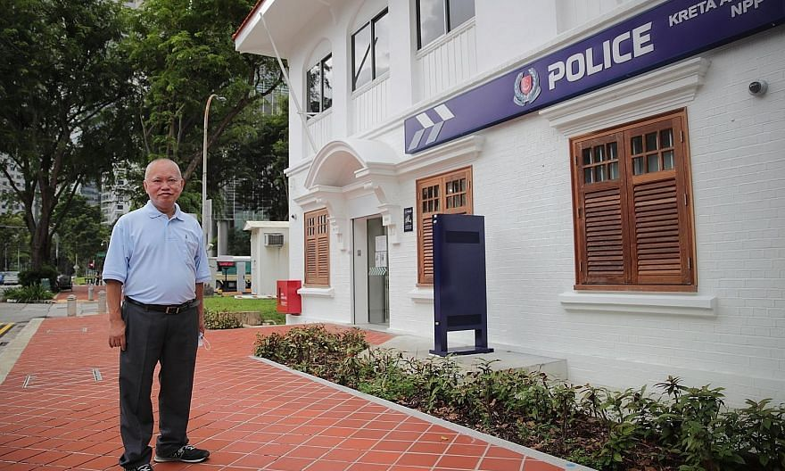 Mr Tan Kok Wah, whose last rank was senior staff sergeant and who retired this year at the age of 62, fondly remembers the years he spent at the Kreta Ayer Neighbourhood Police Post - from 1995 to 2001. It is one of nine sites on the new Police Herit