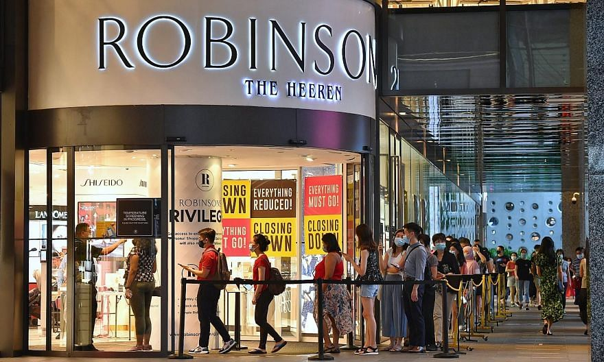 Robinsons has begun closing its remaining two stores - at The Heeren (above) and Raffles City Shopping Centre. Another outlet at Jem mall was closed in August. ST FILE PHOTO