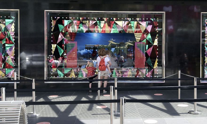 A festive window display at a Myer department store in Melbourne on Wednesday. From this week, residents in Melbourne, Australia's second-largest city, are no longer required to wear masks outdoors. PHOTO: BLOOMBERG