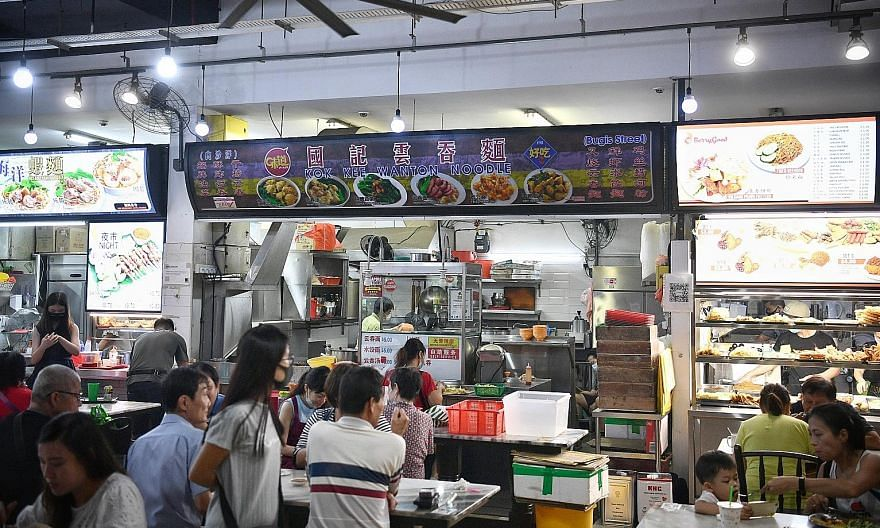 Kok Kee Wanton Noodle stall at Bistro 8 coffee shop in Foch Road yesterday. Once the sale is complete, Kok Kee will become an indirect subsidiary of the Jumbo Group, which will have exclusive rights to develop a franchise system for Kok Kee in Singap