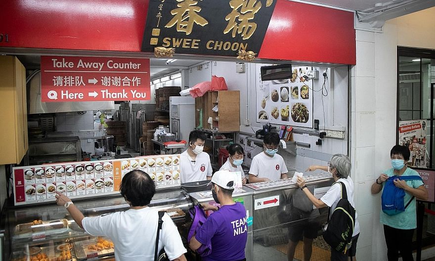 Swee Choon Tim Sum Restaurant's sales from food deliveries went up significantly during the circuit breaker period, from less than 1 per cent to around 60 per cent of its average monthly revenue.