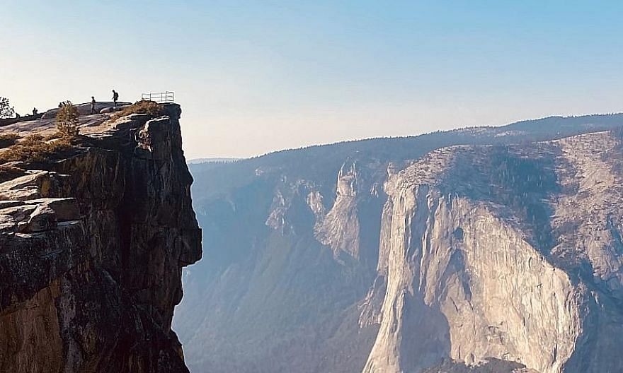 The Taft Point hike in California's Yosemite National Park. Holidays involving outdoor pursuits are all the rage in the United States amid the need to maintain social distance.