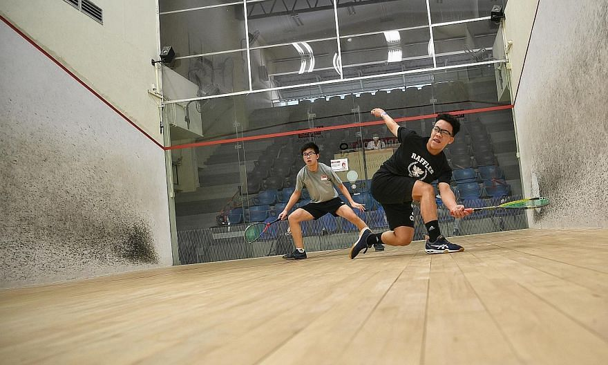 Sport awakens in Singapore with more tournaments taking place this week. At the National Squash Championships yesterday, Josiah Chong returns to Mark Lee.