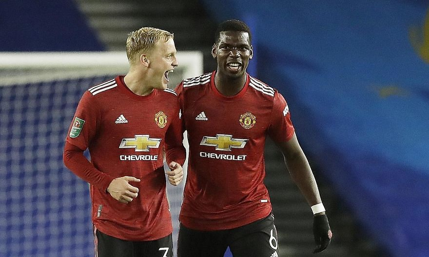 Donny van de Beek (left) and Paul Pogba brought invention and incision against Sheffield United, but Ole Gunnar Solskjaer often pairs Nemanja Matic or Scott McTominay with Fred.