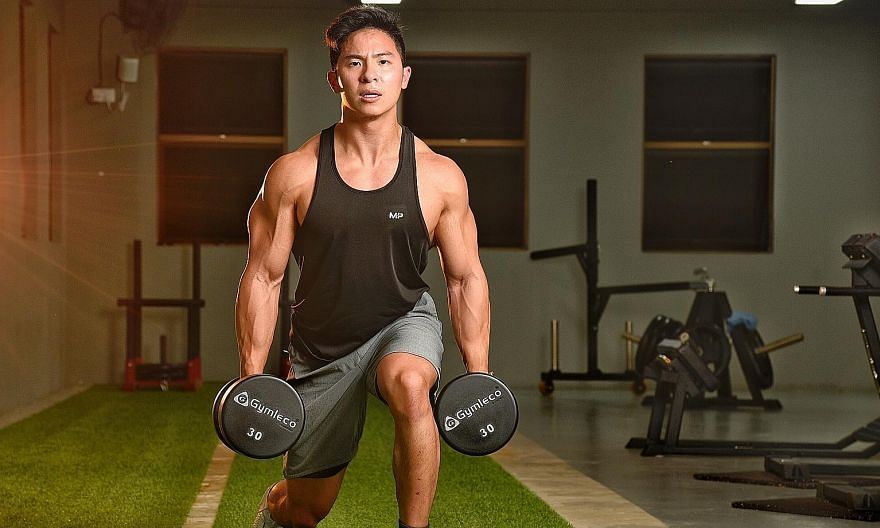 Dr Leroy Kiang, a dentist, built his physique through strength training and by paying attention to his nutrition.