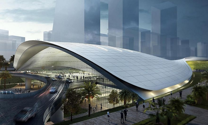 An artist's impression of the Kuala Lumpur-Singapore High Speed Rail terminus in Jurong East. Malaysian news reports have quoted unnamed sources as saying that the Malaysian Cabinet is looking at implementing the HSR without Singapore's involvement a