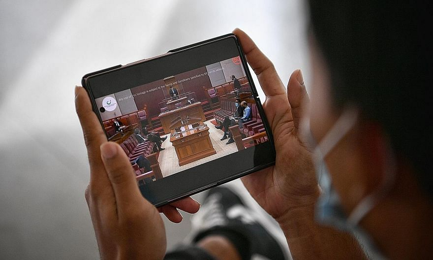 The live stream of parliamentary proceedings began with yesterday's sitting, which started at 1.30pm. It will be available to members of the public via the Ministry of Communications and Information's YouTube channel, in both the original language an