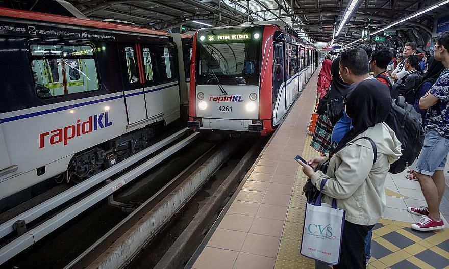 An LRT station in the Klang Valley. National public transport firm Prasarana is facing scrutiny over its decision to withhold up to RM1 billion owed to a group tasked with building the Light Rail Transit 3. PHOTO: BERNAMA