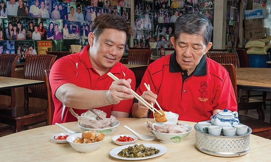 Founder Bak Kut Teh was started in 1978 by Mr Chua Chwee Whatt (right), seen here with his son Nigel Chua.