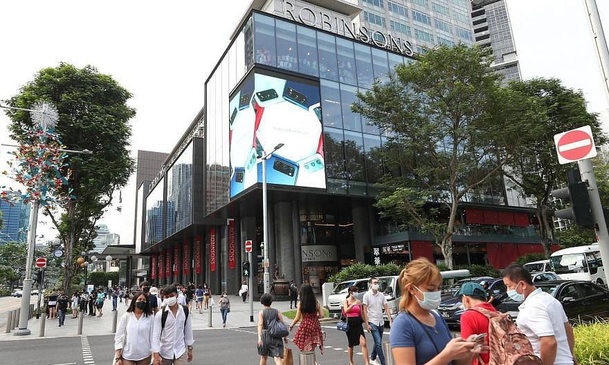 Home appliance megastore Courts' flagship store will occupy all six storeys of The Heeren's retail space, making it Courts' largest outlet in Singapore when it opens in the first quarter of next year. ST PHOTO: YEN MENG JIIN