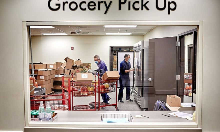 At a Kansas food pantry last week where donations were being prepared for those in need. Employers in the United States shed 140,000 jobs last month, the first net decline in employment since last spring. Millions in the country are struggling to mak