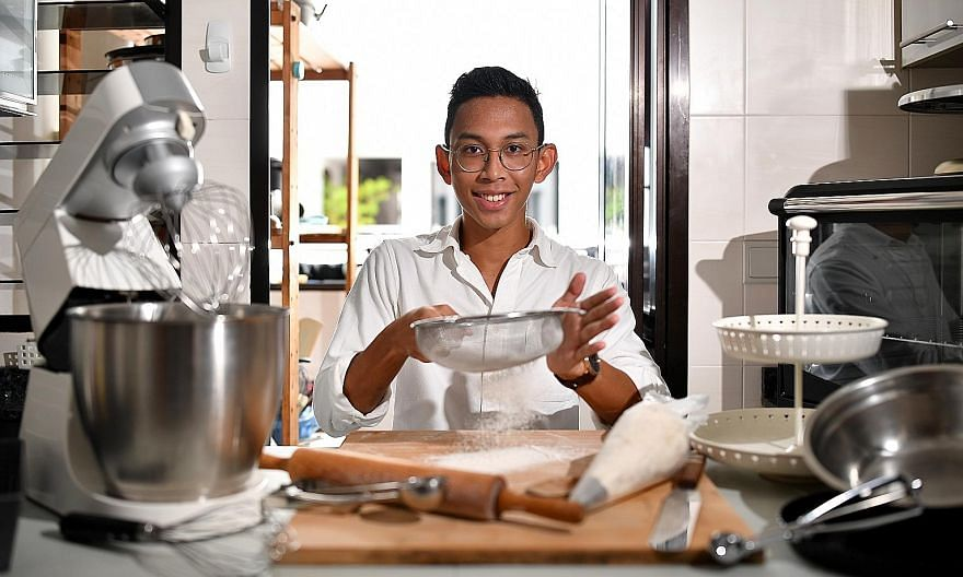 Baking enthusiast Nur Irsyad Abu Bakar (above) churns out his creations at home.