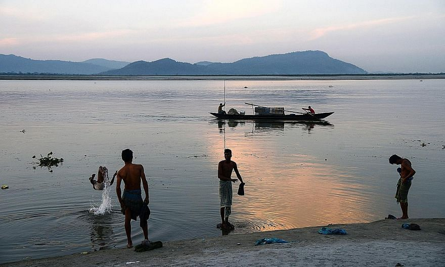 The Yarlung Tsangpo flows into India where it is called the Brahmaputra (above). It then flows into Bangladesh, which could also pay the price for any water hostilities between China and India, as well as construction of dams on the river.