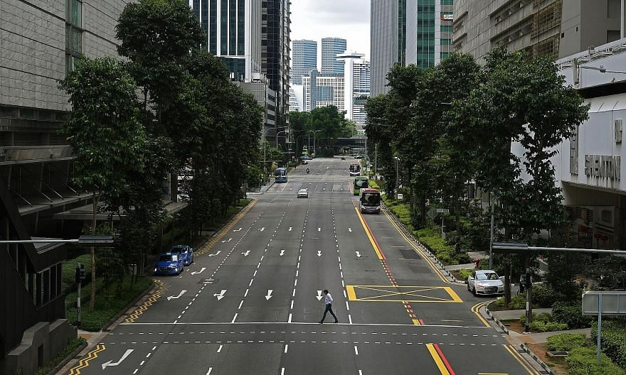 Empty roads were a common sight during Singapore's circuit breaker from April to June last year. The circuit breaker was among the decisions ministers Gan Kim Yong and Lawrence Wong felt the greatest uncertainty about making. It was a drastic measure