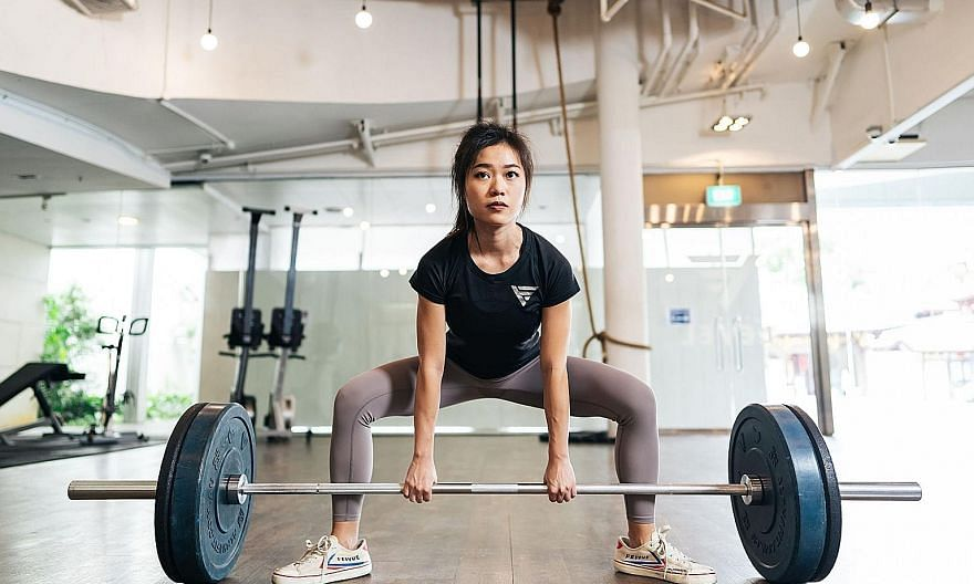 Ms Sharlynn Ooi fought off depression and eating disorders by turning to strength and fitness training.