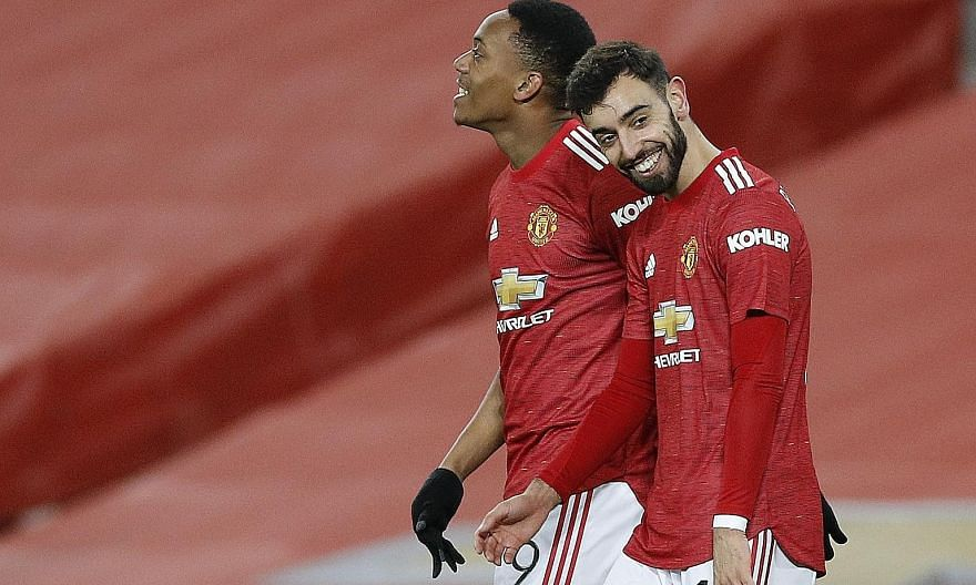 Pep Guardiola's Manchester City and Brendan Rodgers' Leicester are likely to mount title challenges in this most unlikely of seasons. The attacking verve of Bruno Fernandes (with Anthony Martial) has propelled Manchester United to the league's summit