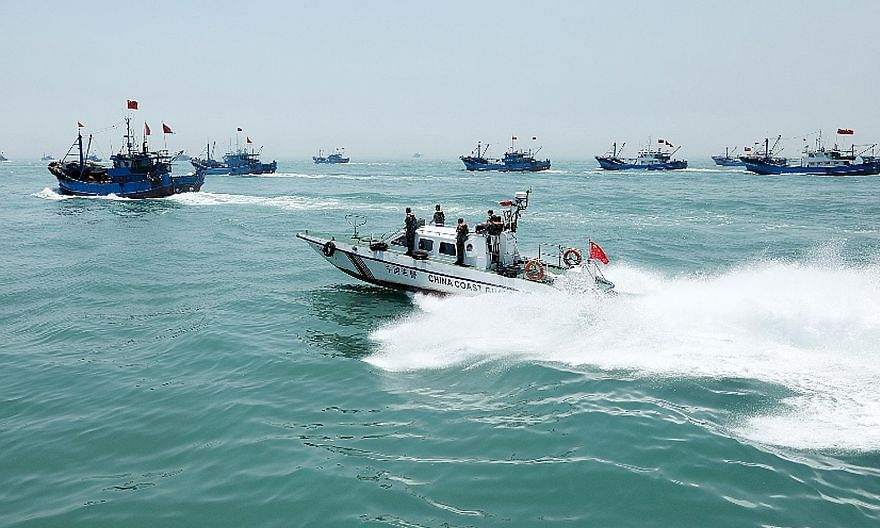The China Coast Guard performing security operations. In recent years, China has been adding teeth to its coast guard, including effectively turning it into a branch of the country's armed forces, says the writer.