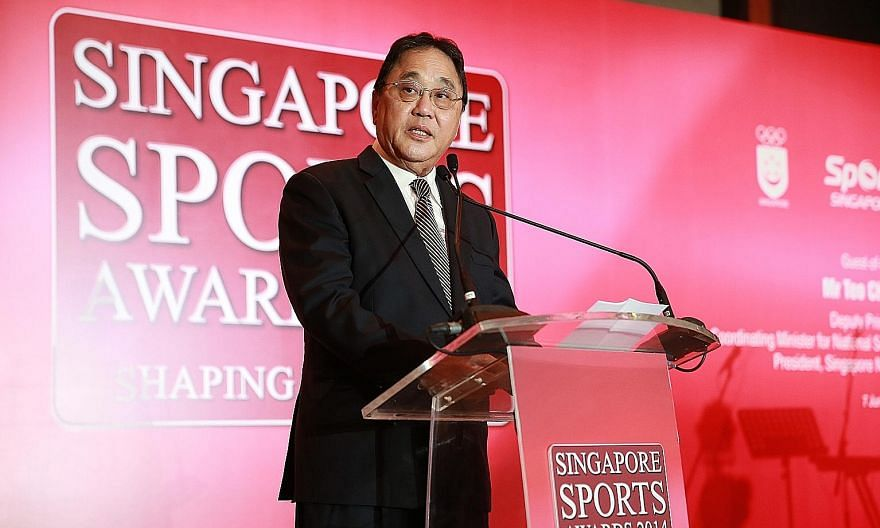 Singapore National Olympic Council vice-president Milan Kwee at the 2014 Singapore Sports Awards ceremony. The former Singapore Taekwondo Federation chief died on Tuesday at the age of 74.
