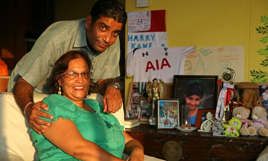 Mr Jaidipsinh Jhala and his wife Karen (far left) lost their daughter Sonia, 12, in the quake. The Sunday Times recalls the deadly event in an online special (left).
