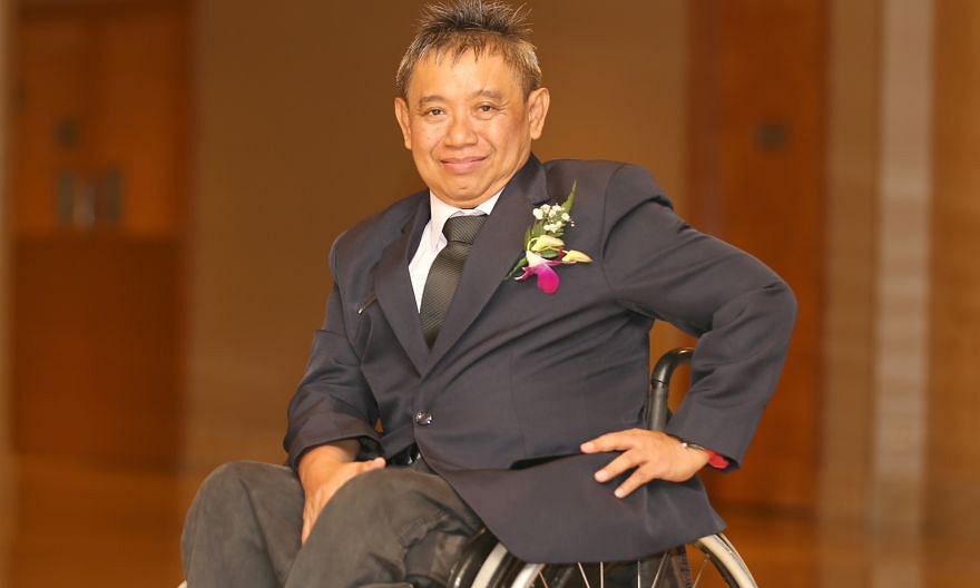 Mr Bakri's accident at the racetrack in 1985 left him paralysed from the waist down. The former jockey fought to rebuild his life and found his first job five years later with the help of Bizlink. He is featured in the organisation's book Brave Heart