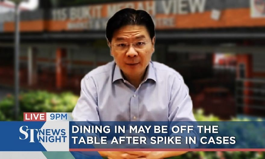Dining in may be off the table after spike in cases | ST NEWS NIGHT