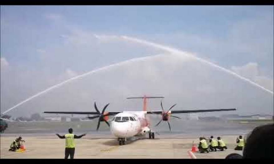 Water cannon salute for Malaysian carrier Firefly
