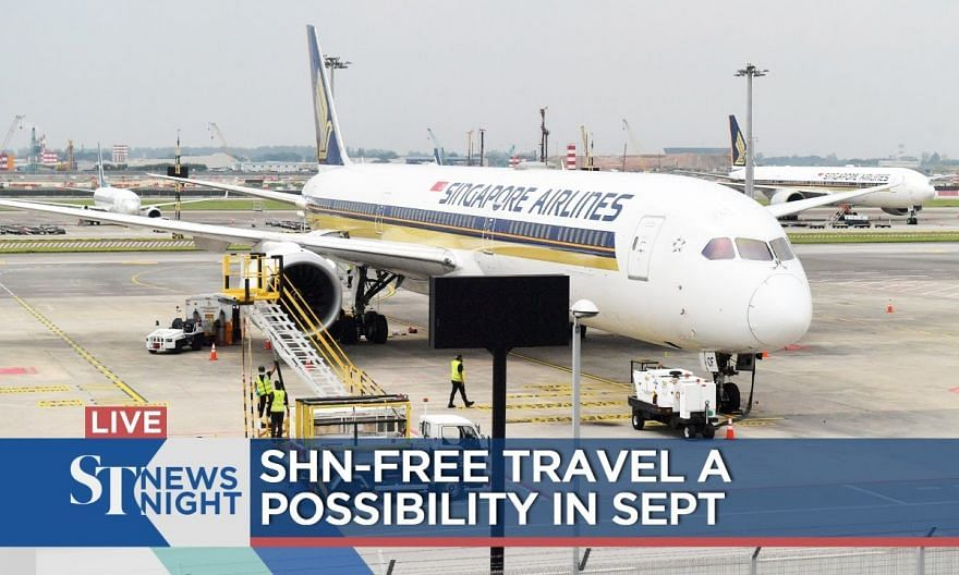 SHN-free travel a possibility in September | ST NEWS NIGHT