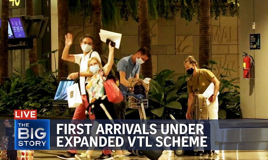First passengers arrive in Singapore under expanded VTL scheme | THE BIG STORY