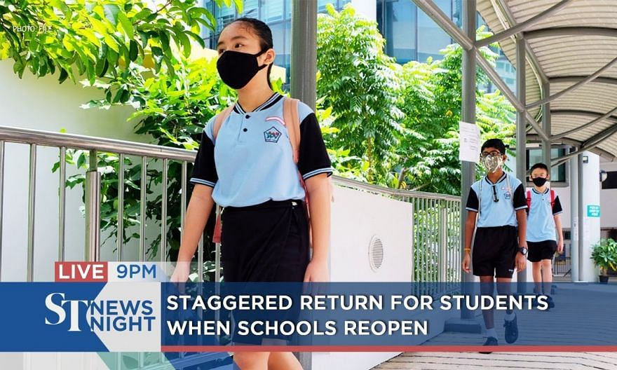 Staggered return for students when schools reopen | ST NEWS NIGHT