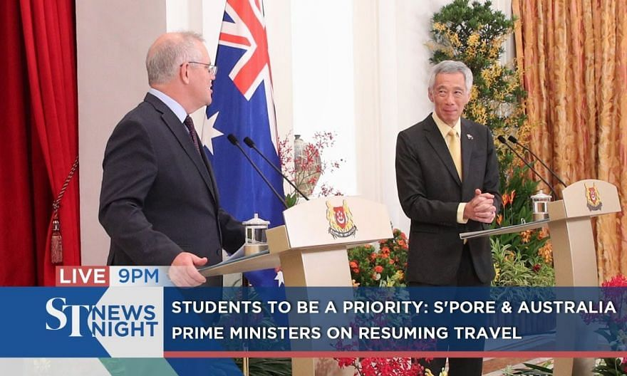 Students to be a priority: S'pore & Australia PMs on resuming travel | ST NEWS NIGHT