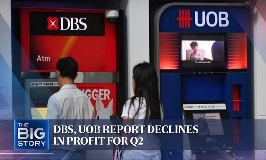 DBS, UOB report declines in profit for Q2 | THE BIG STORY
