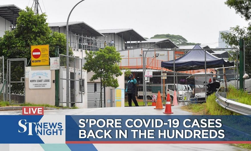 S'pore Covid-19 cases back in the hundreds | ST NEWS NIGHT