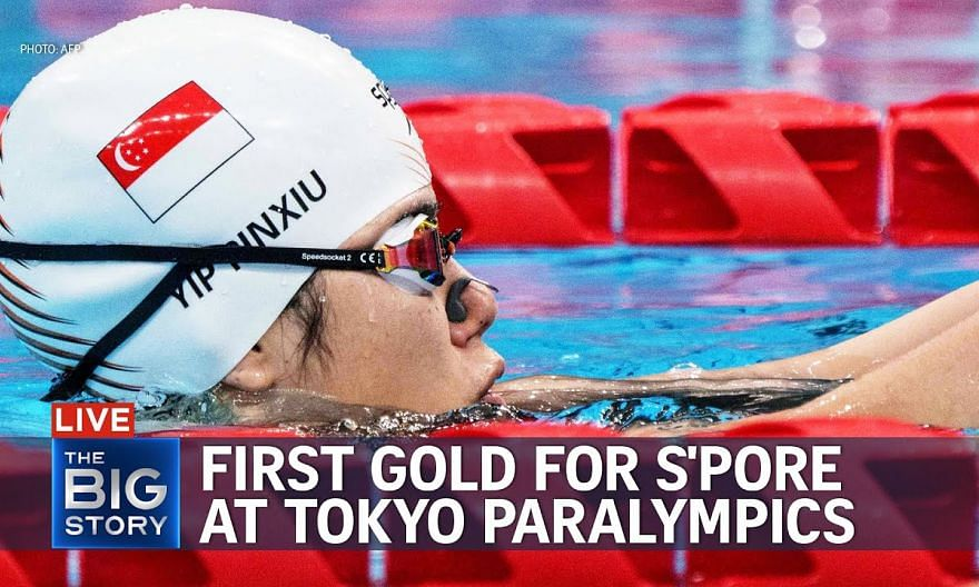 Swimmer Yip Pin Xiu wins 100m backstroke (S2) for Singapore's first gold in Tokyo   THE BIG STORY