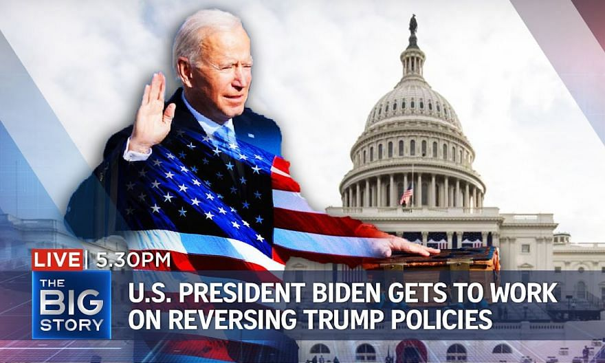 US President Biden gets to work after inauguration, sets on undoing Trump policies   THE BIG STORY