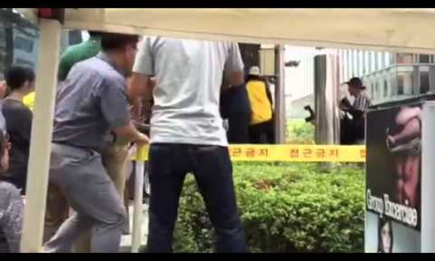 Man erupts in flames at comfort women rally in Seoul